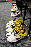 locker room, soccer shoes. The USMNT tied Argentina, 1-1, at the New Meadowlands Stadium in East Rutherford, NJ.