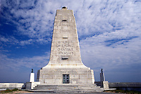 Wright Brothers National Memorial, Outer Banks, North Carolina, NC, The Wright Memorial Shaft on Kills Devil Hill in the Outer Banks of North Carolina.