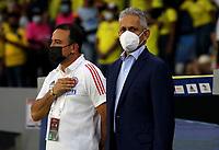 BARRANQUILLA – COLOMBIA, 09-09-2021: Reinaldo Rueda, tecnico, de Colombia (COL) durante partido entre los seleccionados de Colombia (COL) y Chile (CHI), de la fecha 9 por la clasificatoria a la Copa Mundo FIFA Catar 2022, jugado en el estadio Metropolitano Roberto Melendez en Barranquilla. / Reinaldo Rueda, coach of Colombia (COL), during match between the teams of Colombia (COL) and Chile (CHI), of the 9th date for the FIFA World Cup Qatar 2022 Qualifier, played at Metropolitan stadium Roberto Melendez in Barranquilla. / Photo: VizzorImage / Jairo Cassiani / Cont.
