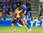 St Johnstone v Galatasaray…12.08.21  McDiarmid Park Europa League Qualifier<br />Mbaye Diagne is tackled by Liam Gordon<br />Picture by Graeme Hart.<br />Copyright Perthshire Picture Agency<br />Tel: 01738 623350  Mobile: 07990 594431