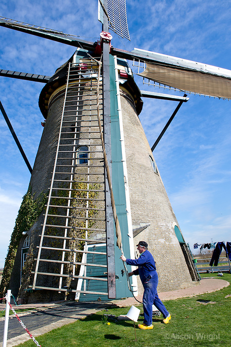 The Vantage Travel Cruise, MS Discovery II along the canals of the Netherlands. Windmills in Kinderdijk. UNESCO Heritage site and one of the best known Dutch tourist sites.