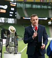 Saturday 12th September 2020 | PRO14 Final - Leinster vs Ulster<br /> <br /> Tommy Bowe hosting eir sports TV coverage during the Guinness PRO14 Final between Leinster ands Ulster at the Aviva Stadium, Lansdowne Road, Dublin, Ireland. Photo by John Dickson / Dicksondigital