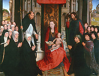Paintings:  Hans Memling (1435-1494)--La Vierge dite de Jacques Floreins.  Flemish painter.  Louvre, Paris.  Reference only.