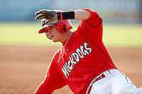 August 16, 2009:  Shortstop Ryan Jackson of the Batavia Muckdogs during a game at Dwyer Stadium in Batavia, NY.  The Muckdogs are the Short-Season Class-A affiliate of the St. Louis Cardinals.  Photo By Mike Janes/Four Seam Images