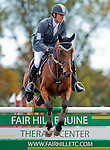 William Coleman III and Twizzel clear the 11th fence during Stadium Jumping at the Dansko Fair Hill International 3-Day Event in Fair Hill, Maryland on October 16, 2011.