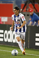 Pachuca CF forward Jose Maria Cardenas (11). The New England Revolution defeated Pachuca CF 1-0 during a Group B match of the 2008 North American SuperLiga at Gillette Stadium in Foxborough, Massachusetts, on July 16, 2008.