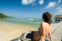 Sitting on a dock by the bay, Isla Bastimentos, Bocas Del Toro, Panama