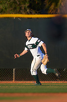 Chicago State Cougars center fielder Matt Paciello (34) tracks a fly ball during a game against the Georgetown Hoyas on March 3, 2017 at North Charlotte Regional Park in Port Charlotte, Florida.  Georgetown defeated Chicago State 11-0.  (Mike Janes/Four Seam Images)