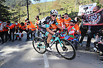 Esteban Chaves Rubio (COL) Team BikeExchange on the final climb of Ermualde during Stage 3 of the Itzulia Basque Country 2021, running 167.7km from Amurrio to Laudi/Ermualde, Spain. 7th April 2021.  <br /> Picture: Luis Angel Gomez/Photogomezsport | Cyclefile<br /> <br /> All photos usage must carry mandatory copyright credit (© Cyclefile | Luis Angel Gomez/Photogomezsport)