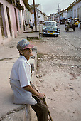Elderly man in the southern town of Trinidad, which was declared a World Heritage site by UNESCO in 1988 to preserve the architectural legacy of its Spanish colonial history.