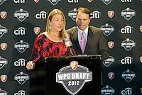 Kyndra deSt Aubin, Dean Linke,.. The WPS draft 2012 was held at the Kansas City Convention Center, Kansas City, MO.