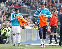 Real Madrid's Sami Khedira (l) and Cristiano Ronaldo during La Liga match.March 02,2013. (ALTERPHOTOS/Acero) /NortePhoto
