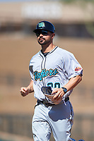 Salt River Rafters coach Travis Denker (30), of the Arizona Diamondbacks organization, during the Arizona Fall League Championship Game against the Surprise Saguaros on October 26, 2019 at Salt River Fields at Talking Stick in Scottsdale, Arizona. The Rafters defeated the Saguaros 5-1. (Zachary Lucy/Four Seam Images)