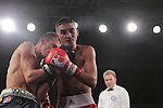 NEWPORT, WALES - November 23:.Andrew Selby (Wales) in action against Daniele Limone (ITA) in the Lightweight 57-61kg bout at the World Series of Boxing event between British Lionhearts and Dolce & Gabbana Italia Thunder at The Celtic Manor Resort in Wales..23.11.12..©Steve Pope - Sportingwales