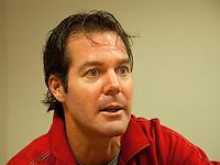 10-12-09, Rotterdam, Tennis, REAAL Tennis Masters 2009, Dennis Schenk, coach van Thiemo de Bakker en Robin Haase
