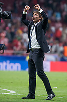 Chelsea's coach Antonio Conte celebrating the victory  during UEFA Champions League match between Atletico de Madrid and Chelsea at Wanda Metropolitano in Madrid, Spain September 27, 2017.  *** Local Caption *** © pixathlon<br /> Contact: +49-40-22 63 02 60 , info@pixathlon.de