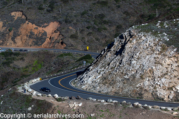 aerial photograph of Highway One, Big Sur, Monterey County, California