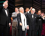 """Neil Simon, Sean Hayes, Hal David, Rob Ashford.taking a bow on the  Opening Night Broadway performance Curtain Call for """"PROMISES, PROMISES"""" at the Broadway Theatre, New York City..April 25, 2010."""