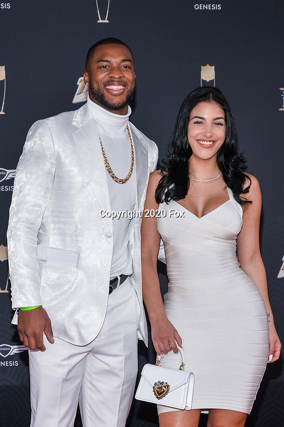 MIAMI, FL - FEBRUARY 1: Allen Robinson and Alyssa Sorto attend the 2020 NFL Honors at the Ziff Ballet Opera House during Super Bowl LIV week on February 1, 2020 in Miami, Florida. (Photo by Anthony Behar/Fox Sports/PictureGroup)