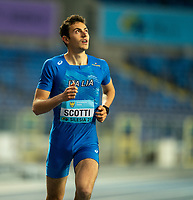 2nd May 2021; Silesian Stadium, Chorzow, Poland; World Athletics Relays 2021. Day 2; Scotti of Italy prior to the mixed 4 x 400 final where his country, Italy won