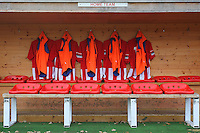 General view of the home dugout - AFC Hornchurch vs Wingate & Finchley - Ryman League Premier Division Football at Hornchurch Stadium, Bridge Avenue, Upminster, Essex - 30/11/13 - MANDATORY CREDIT: Gavin Ellis/TGSPHOTO - Self billing applies where appropriate - 0845 094 6026 - contact@tgsphoto.co.uk - NO UNPAID USE
