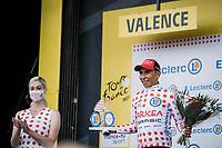 polka dot jersey // Nairo Quintana (COL/Arkéa Samsic)<br /> <br /> Stage 10 from Albertville to Valence (190.7km)<br /> 108th Tour de France 2021 (2.UWT)<br /> <br /> ©kramon