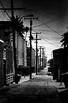 Beach Town Alley (b&w), Seal Beach, CA