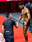 Winners of the South China Men's Athletic Physique below 170cm category during the 2016 Hong Kong Bodybuilding Championships on 12 June 2016 at Queen Elizabeth Stadium, Hong Kong, China. Photo by Lucas Schifres / Power Sport Images
