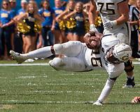 Georgia Tech Yellow Jackets quarterback TaQuon Marshall. The Pitt Panthers football team defeated the Georgia Tech Yellow Jackets 24-19 on September 15, 2018 at Heinz Field in Pittsburgh, Pennsylvania.
