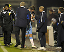 14/12/2010   Copyright  Pic : James Stewart.sct_jsp027_motherwell_v_hearts  .::  DAVID TEMPLETON IS CONGRATULATED BY HEARTS MANAGER JIM JEFFERIES AND ASSISTANT BILLY BROWN AS HE IS SUBSTITUTED ::.James Stewart Photography 19 Carronlea Drive, Falkirk. FK2 8DN      Vat Reg No. 607 6932 25.Telephone      : +44 (0)1324 570291 .Mobile              : +44 (0)7721 416997.E-mail  :  jim@jspa.co.uk.If you require further information then contact Jim Stewart on any of the numbers above.........