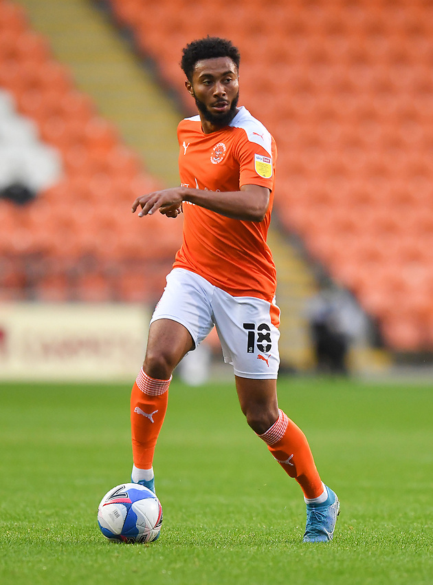 Blackpool's Grant Ward<br /> <br /> Photographer Dave Howarth/CameraSport<br /> <br /> EFL Trophy Northern Section Group G - Blackpool v Barrow - Tuesday 8th September 2020 - Bloomfield Road - Blackpool<br />  <br /> World Copyright © 2020 CameraSport. All rights reserved. 43 Linden Ave. Countesthorpe. Leicester. England. LE8 5PG - Tel: +44 (0) 116 277 4147 - admin@camerasport.com - www.camerasport.com