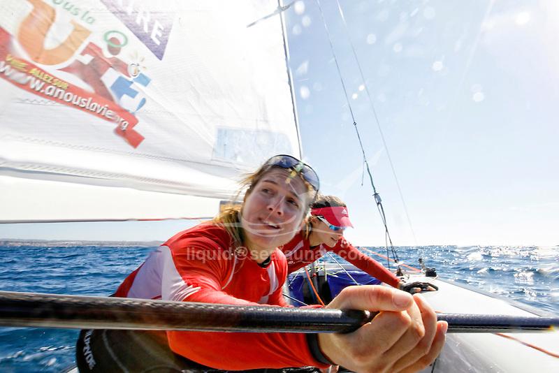 47 Trofeo S.A.R. Princesa Sofía IBEROSTAR Palma - Fédération Française de Voile. 470 Women, Camille Lecointre, Helene Defrance.