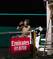 Rotterdam, The Netherlands, 5 march  2021, ABNAMRO World Tennis Tournament, Ahoy,  Quarter final: Andrey Rublev (RUS) Jeremy Chardy (FRA).<br /> Photo: www.tennisimages.com/henkkoster