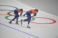 OLYMPIC GAMES: PYEONGCHANG: 17-02-2018, Gangneung Oval, Long Track, Training session, Irene Schouten (NED), Koen Verweij (NED), ©photo Martin de Jong