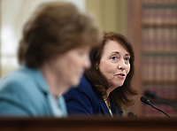 United States Senator Maria Cantwell (Democrat of Washington) speaks at the US Senate Small Business and Entrepreneurship Hearings to examine implementation of Title I of the CARES Act on Capitol Hill in Washington, DC on Wednesday, June 10, 2020.   <br /> Credit: Kevin Dietsch / Pool via CNP/AdMedia
