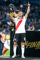 River Plate Gonzalo Martinez celebrating a victory during  Commebol Final Match between River Plate and Boca Juniors at Santiago Bernabeu Stadium in Madrid, Spain. December 09, 2018. (ALTERPHOTOS/Borja B.Hojas) /NortePhoto.com