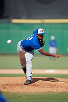 Toronto Blue Jays pitcher Juanfer Castro (32) during an Instructional League game against the Philadelphia Phillies on September 23, 2019 at Spectrum Field in Clearwater, Florida.  (Mike Janes/Four Seam Images)