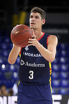 LLIGA NACIONAL CATALANA ACB 2020 AON.<br /> Morabanc Andorra vs Club Joventut Badalona: 77-75.<br /> Oriol Pauli.