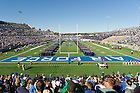 Oct. 26, 2013; United States Air Force Academy cadets stand on the field for the national anthem.
