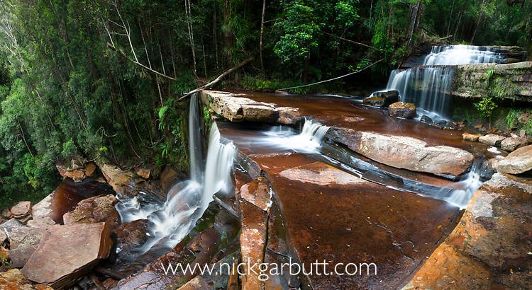 Gulik Falls, edge of southern plateau, Maliau Basin Sabah's 'Lost World', Borneo (digitally stitched image)