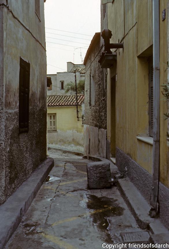 Athens: Street approaching Acropolis. Photo '82.