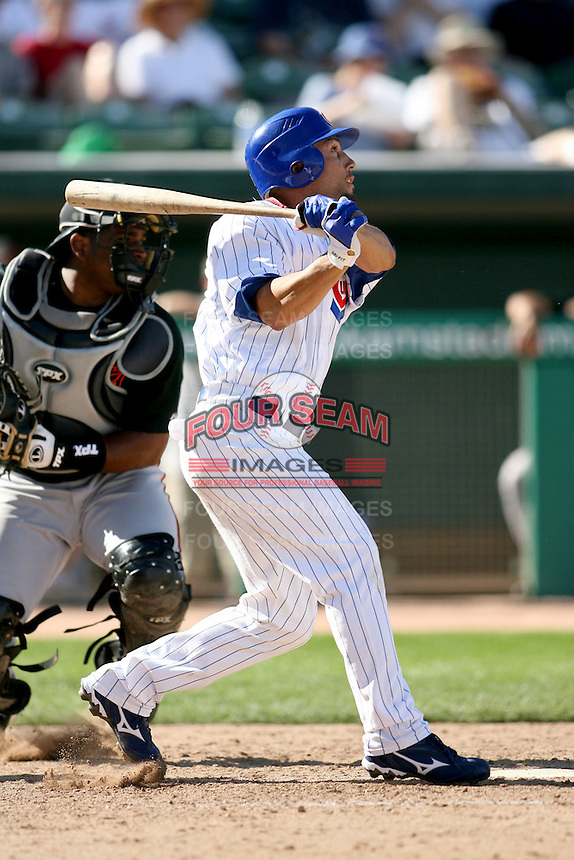 February 29, 2008: Andres Torres of the Chicago Cubs at Hohokam Park during spring training in Mesa, AZ. Photo by:  Chris Proctor/Four Seam Images