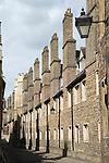 Cambridge University UK. Trinity College, student rooms seen from Trinity Lane.
