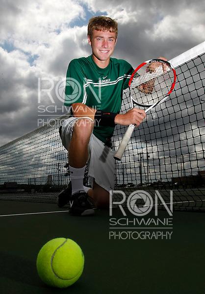Cloverleaf's Ethan Dunbar picks up his fourth MVP in boys tennis. (RON SCHWANE / GAZETTE)