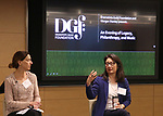 Andrea Levine Sanft and Audrey Choi during An Evening Of Legacy, Philanthropy & Music For The Benefit Of The Dramatists Guild Foundation at Morgan Stanley Headquarters on May 13, 2019 in New York City.