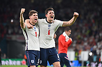 7th July 2021, Wembley Stadium, London, England; 2020 European Football Championships (delayed) semi-final, England versus Denmark;  Celebration for reaching the final John STONES ENG and Harry MAGUIRE ENG