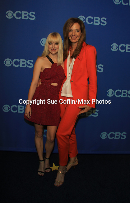 "Guiding Light Allison Janney stars with Anna Faris in new show ""Mom"" at the CBS Upfront on May 15, 2013 at Lincoln Center, New York City, New York. (Photo by Sue Coflin/Max Photos)"