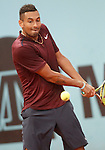Nick Kyrgios, Australia, during Madrid Open Tennis 2016 match.May, 6, 2016.(ALTERPHOTOS/Acero)