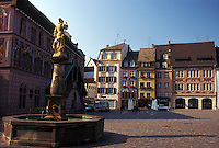 France, Mulhouse, Alsace, Haut-Rhin, Europe, Public square in downtown Mulhouse