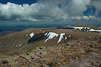 Cairngorm and Sron na Lairige from Braeriach, the 3rd highest mountain in Britain, Cairngorm National Park